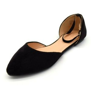 Chase & Chloe Womens Dalena Ankle Strap Flat New